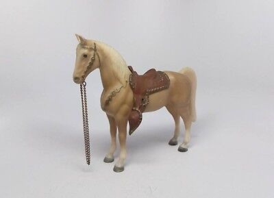 Vintage 1950's-1960's Breyer Western Horse! Palamino with Saddle! Rare!