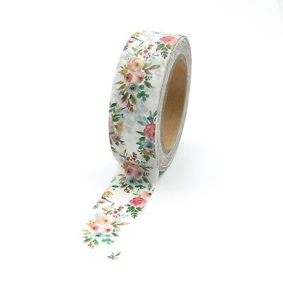 Washi Tape Vintage Floral Bouquet of Flowers 15mm x 10m