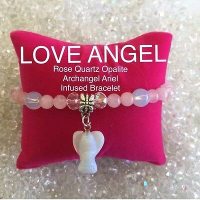 Code 230 Rose Quartz Attract your Soulmate charged n Infused bracelet Romance