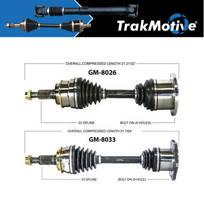CV Axle Shaft Front-Left//Right SurTrack GM-8033
