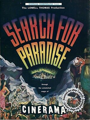 Cinerama SEARCH FOR PARADISE Film Program 1957 photos stories behind scenes MINT
