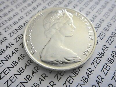 AUSTRALIAN -1966  50c  Cent Round Decimal Silver Coin   80% Silver (1) One Coin