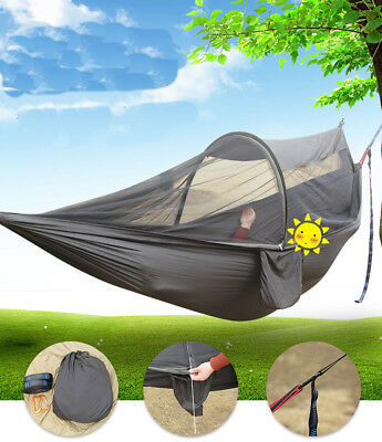 Parachute Fabric Mosquito Net Automatic Rod Support Hammock For Tourism Camping