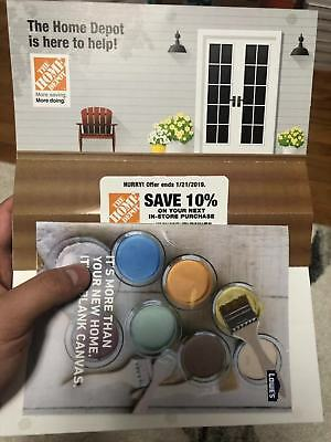 ONE (1X) 10% OFF Home Depot Coupon - In store ONLY Save up to $200-Mail