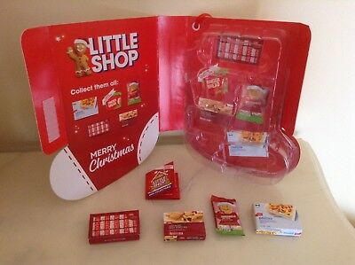 Coles Little Shop CHRISTMAS Edition COLLECTOR Case Folder + 4 Minis included NEW