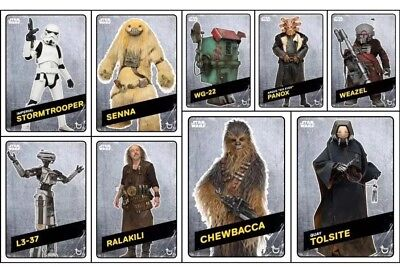 Topps Star Wars Card Trader Solo Story Challengers Wave 2 [9 CARD STEEL SET]