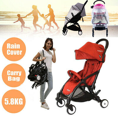 Compact Lightweight Baby Stroller Jogger Pram Foldable Pushchair Travel on Plane