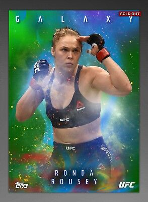 Topps UFC Knockout RONDA ROUSEY Green Galaxy Limited Insert Digital Card 75cc