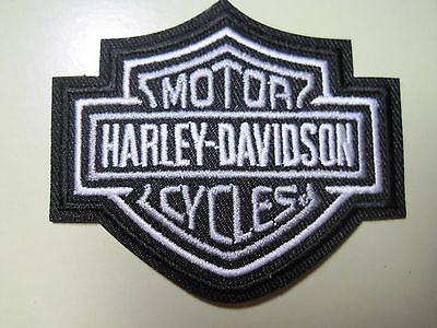 Harley Davidson Bar & Shield Vest Patch X-Small Black-White-Grey*