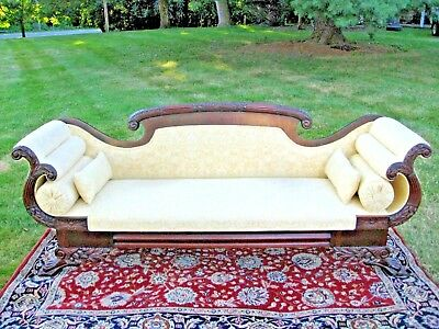 Antique Federal Empire Carved Sofa Scarsdale Rye Chappaqua Westchester County NY