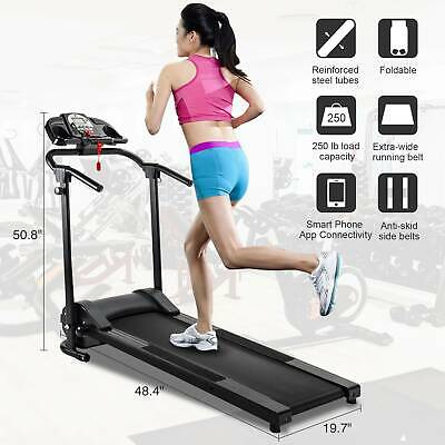 Folding Treadmill Electric Support Motorized Power Running Fitness Machine.