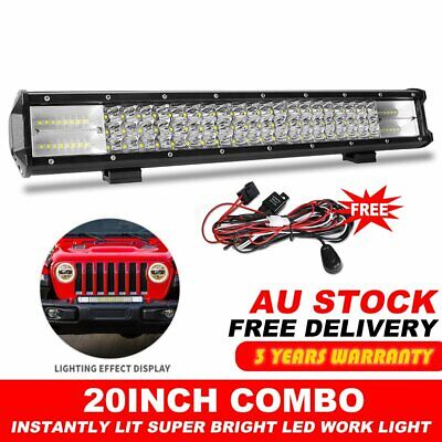 20INCH Philips LED Light Bar Tri Row Combo Beam Work Driving Offroad 4WD 23""