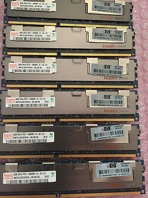 48Gb, 6x 8Gb PC3 10600R Registered server memory, 2Rx4, HP 500205-071