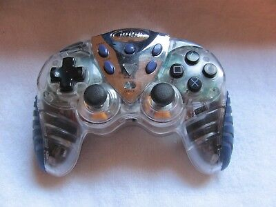 Intec Clear Wireless PS2 Controller, Rechargeable