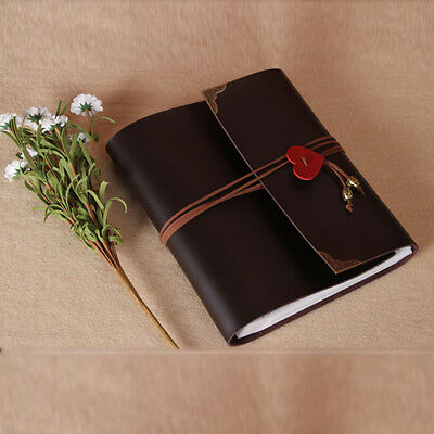 120pcs 30 pages Photo Album Leather Scrapbook Travel Holiday Gift Vintage Albums