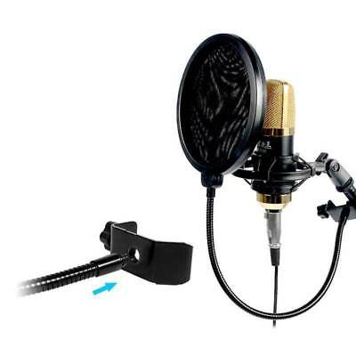 Microphone Studio Wind Screen Pop Filter Mask Shied Black Mask Shield Pop Filter