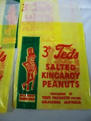 Teds Salted Kingaroy Peanuts Bag x 4 NOS
