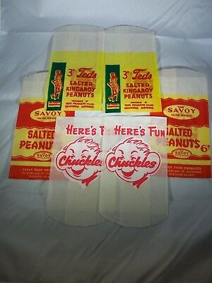 Chuckles , Teds and Savoy Salted Peanuts Bag x 6 NOS
