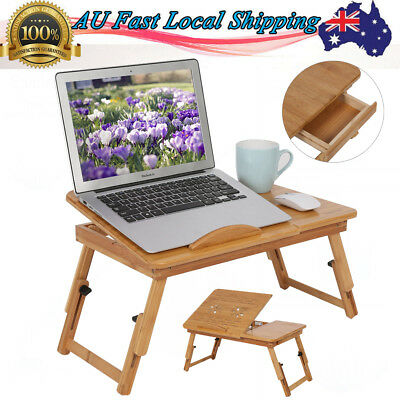 Multi Function Bamboo Laptop Bed Desk Table Foldable Cooling Laptop Table 2019