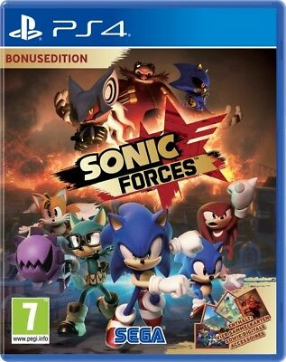 PS4 Gioco Sonic Forces Bonus Day One Edition Merce Nuova