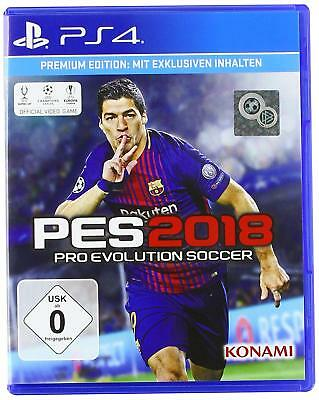 PS4 Game Pes 2018 Premium Edition pro Evolution Soccer 18 Football New
