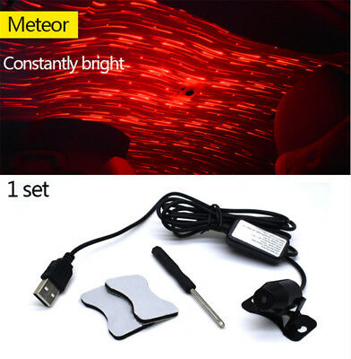 LED Atmosphere Ceiling Star Light Meteor Sky Red Galaxy Lamp Home Car Interior