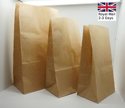 10/20/50x Quality Brown Kraft Strung Paper Bags Sandwich Fruit Grocery Food Bag