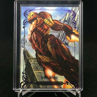 2018 Marvel Masterpieces IRON MAN #89 Tier 4 Purple /199