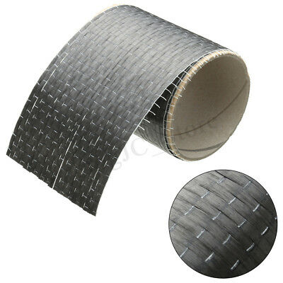 12K 200gsm Real Carbon Fiber Fabric Cloth Tape UNI-Directional Weave 4'' X 36''