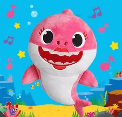 Baby Shark Cartoon Soft Plush Doll Singing English Music Doll