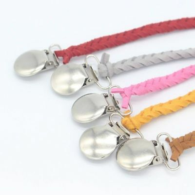 UK Baby Boys Girls Alloy Soother Pacifier Dummies Chain Clips Holders Newest