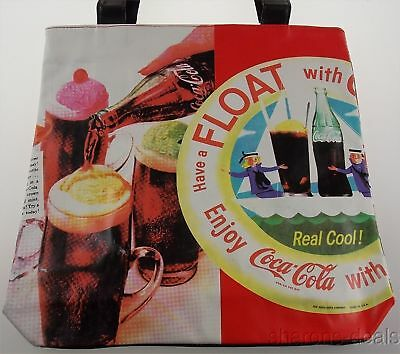 Coca Cola Vinyl Tote Bag Coke Shoulder Beach Messenger Hobo Satchel Licensed NWT