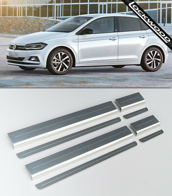 VW Polo Mk6 (Released 2018) Stainless Sill Protectors / Kick Plates