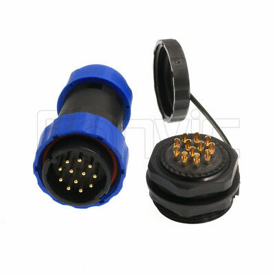 SP29 12Pin Waterproof 10A Power Connector Circular Female Socket Male Cable Plug