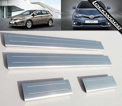 Toyota Auris Mk2 (released 2013) Stainless Steel Sill Protectors / Kick Plates
