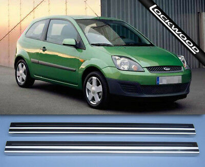 Ford Fiesta MK6 2002 - 2008 2Dr Stainless Steel Sill Protectors / Kick Plates