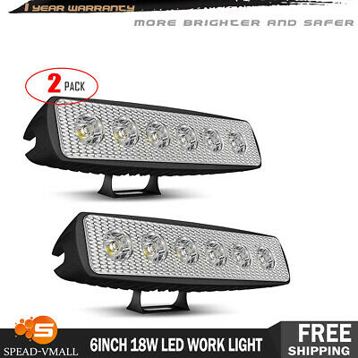 "4x 7"" Roof Rack LED Light Bar Spot Offroad Driving Headlight For SUV Truck Jeep"