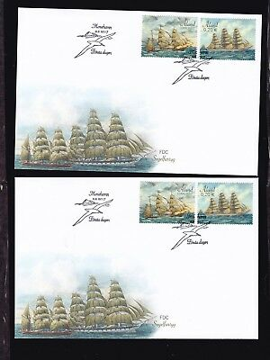 Aland  2017  two  FDC covers.Sailing Ships.See scan.