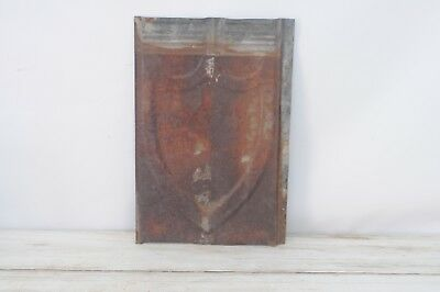 Antique Pressed Tin Roof Shingle Decorative Metal Embossed Tin Wall Art Salvage