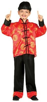 Boys Chinese Japan Oriental World Book Day Week Fancy Dress Costume Outfit 3-12
