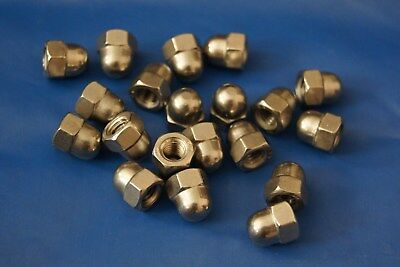 M6 Hexagon Dome Acorn Nuts Stainless Steel A2 Metric pack 100 Free UK First Clas