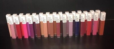 Maybelline  Superstay Matte Ink Liquid Lipstick Huge Lot Of 30 Shades All New!