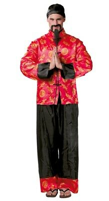 Mens Oriental Japan Chinese New Year National Dress Fancy Dress Costume Outfit
