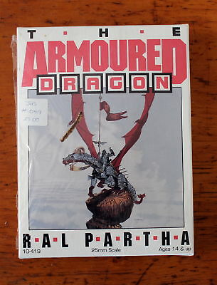 The Armored Dragon 10-419 25mm miniature box set 1987 Ral Partha new sealed
