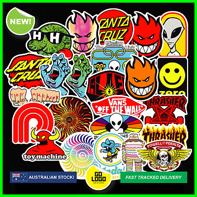 Bulk Skateboard Stickers Pack Logo Santa Cruz Random Old School Decal WATERPROOF
