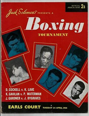 Boxing Programme , Don Cockell  V  Kitione Lave , 24/4/1956.