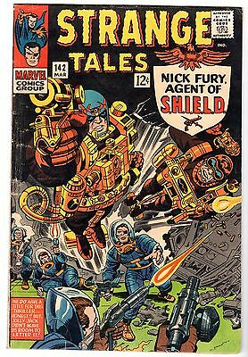 Strange Tales #142 with Nick Fury Agent of SHIELD & Dr. Strange, Fine Condition