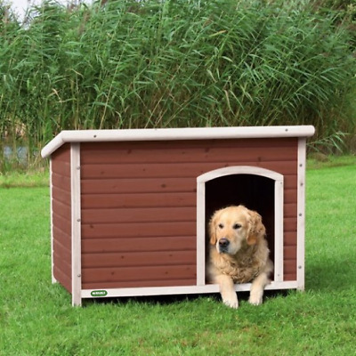 Heritage Deluxe Wooden Dog Kennel House Home Apex Roof Timber Kennels 3 Sizes