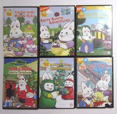 Max Amp Ruby Dvd Lot Of 6 Party Time Afternoons Christmas