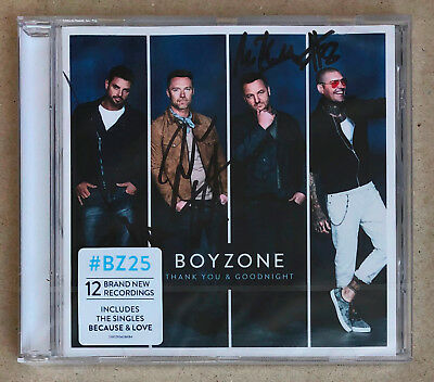BOYZONE * THANK YOU & GOODNIGHT * 12 TRK CD w/ SIGNED BOOKLET * SEALED * BECAUSE